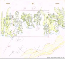Cadalacs and Dinosaurs production drawing by AnimationValley