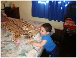 Tiger and nephew by TonsofPhotos