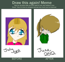 Before and After Meme: Me by NeonSparkz