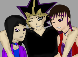Angel,Atem and Britt by QueenBrittStalin