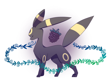Blackberry Umbreon by of-airis