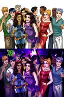 Young Avengers - New Year by MidoriEyes