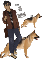 HARPG / DARPG - Dog and Handler Adopt (Sold) by LeavingNeverland