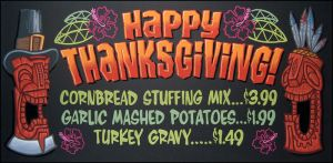 Happy Thanksgiving 2012 chalkboard by TraderGino
