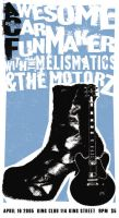 A Rockin' Boot: Rock Poster by Samarah