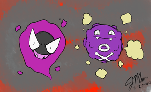 NPCs ~ Alpine Thugs Gastly and Koffing by tjmoonstudios
