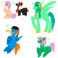 100 pony challenge adopts 3 by Zybala