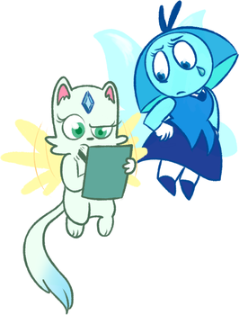 Baby and Aquamarine by woollily