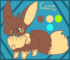 Cocoa the eevee by peckonthecheek