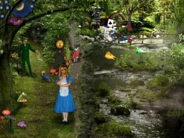 Alice In Wonderland-Which Way by KWilliamsPhoto