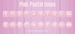 Pink Pastel Icons by Zmei-Kira