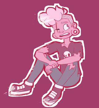 Pink Lars Sticker (I should stop drawing lars now) by ScribbleCate