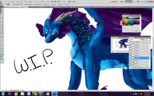 WIP Dragon Digital Painting by FeatheredSoap