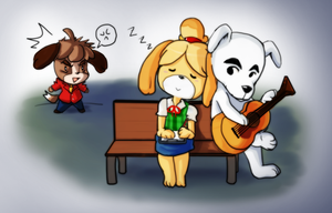 Animal Crossing New Leaf - KKxIsabelle - NO DIGBY by Sanoshi