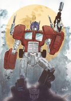 Optimus by MikeOppArt