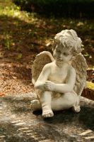 Angel statue Stock 018 by Malleni-Stock
