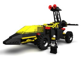 LEGO Blacktron Battrax - WIP2 by zpaolo
