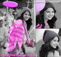 Action Pink Forever Alone by BieberLoveEdittions