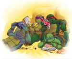 TMNT-Reading and Snacking by tmask01