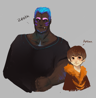 Zeeth and Anom by H-appysorry
