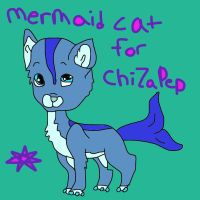 Mermaid cat for ChinZaPep by mermaidgirl013