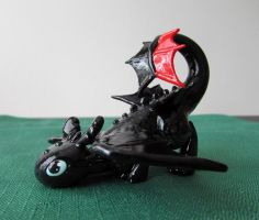 .:Mini Clay Toothless:. by PeaBlueJr