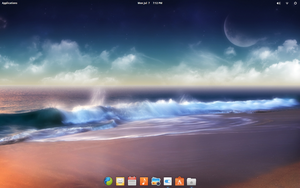 elementary OS freya running on ubuntu 14.04 by ak0602