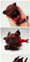 Mephistopheles the Dragon Kitten FOR SALE by Sovriin
