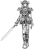 Female Knight by Khaoslager