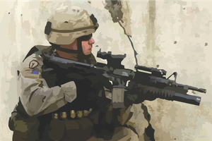 Solider in Iraq by Oultre