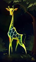 Glowing Giraffe! by StarSoulArt