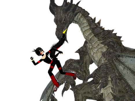 [MMD]LET GO OF MY TAIL YOU USELESS REPTILE!! by NaroKusanagi