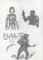 HALO sketches by josiahherman