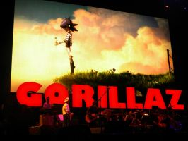 The Gorillaz at Coachella by Johnny-Lively