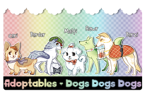 Dog Adoptables [Closed] by Mousu