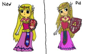 New Zelda vs Old by IWantAnEnderman