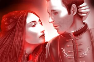 Stannis and Melisandre by AnnettaSassi