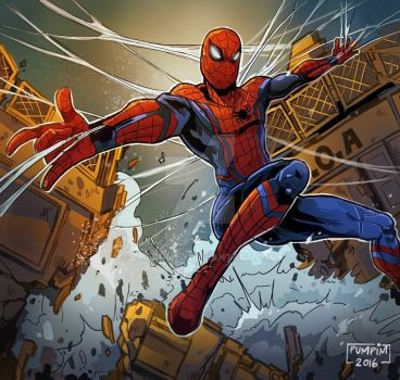 Spider Man Homecoming by THEGUM90