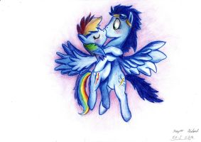 Rainbow Dash and Soarin by kapiicefruit