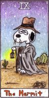 The Hermit Peanuts Tarot 3 by crokittycats