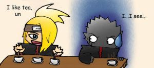 Tea Time -Deidara and Leader- by Taniuskey-chan