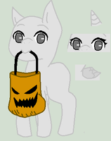 Trick Or Treating Filly by ponyboogers-pixels