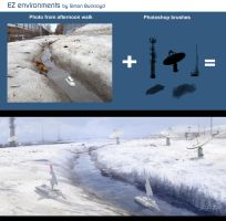 EZ Environments by Simon Buckroyd SatComSnowscape by Binoched