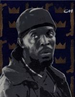 Omar Little from HBO's The Wire by Stencils-by-Chase