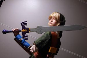 Link with Master Sword by GlamForUs