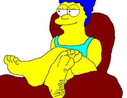 Marge Simpsons feet by Diktatoren