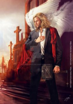 Avenging angel: Thor by Brilcrist