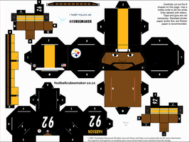 James Harrison Steelers Cubee by etchings13