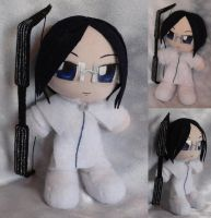 Commission, Mini Plushie Uryu Ishida by ThePlushieLady
