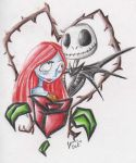 jack and sally by Jini--Chan